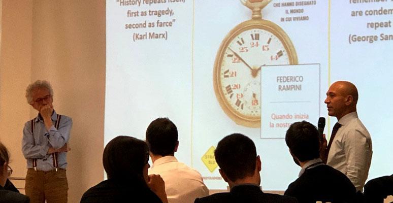 Quando inizia la storia: gli Executive MBA incontrano Federico Rampini