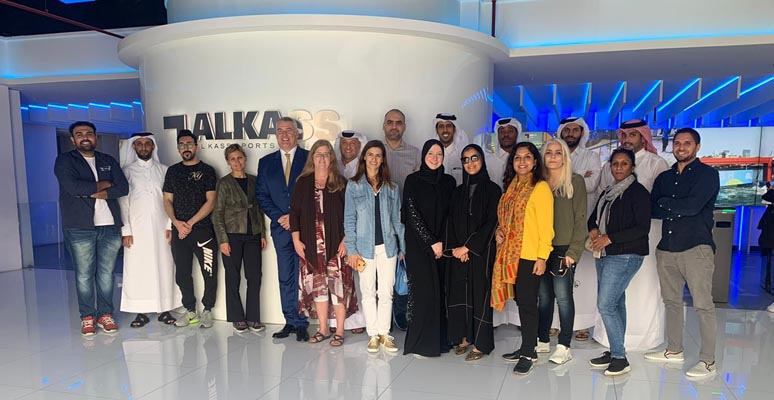 100 delegates visited Khalifa Stadium and Al Kass Sports Channel