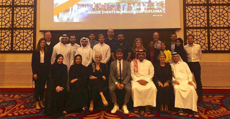 100 participants, from 25 different countries for the fourth block of the Diploma Programmes in Sports Management and Major Events Management in Doha (Qatar)