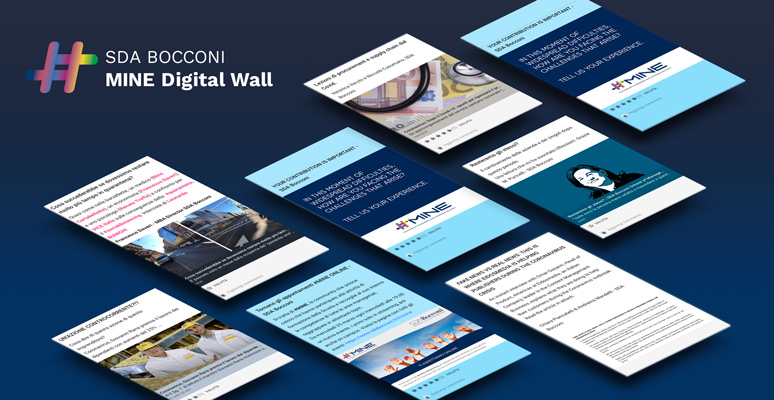 Ideas don't stop: SDA Bocconi creates MINE Digital Wall