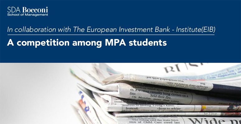 A competition among MPA students, in collaboration with EIB