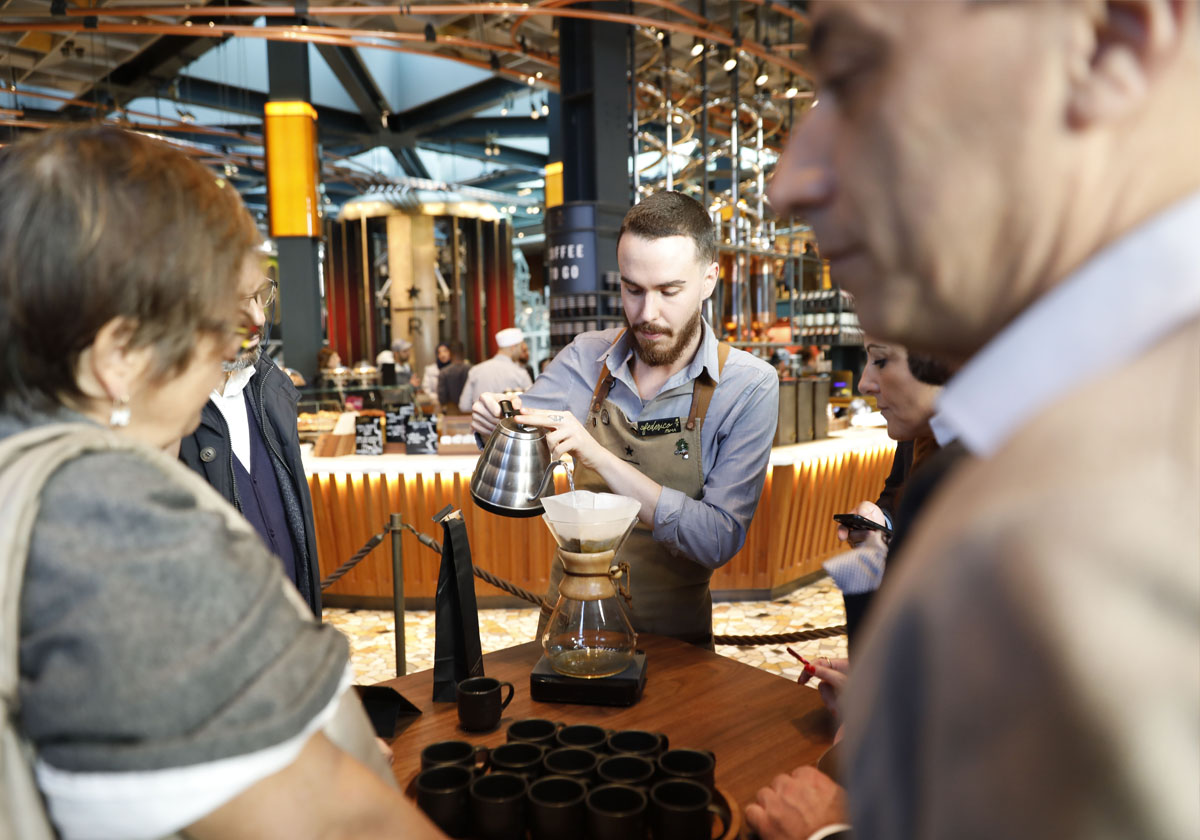 Sharing a new customer experience at Starbucks™ Reserve Roastery