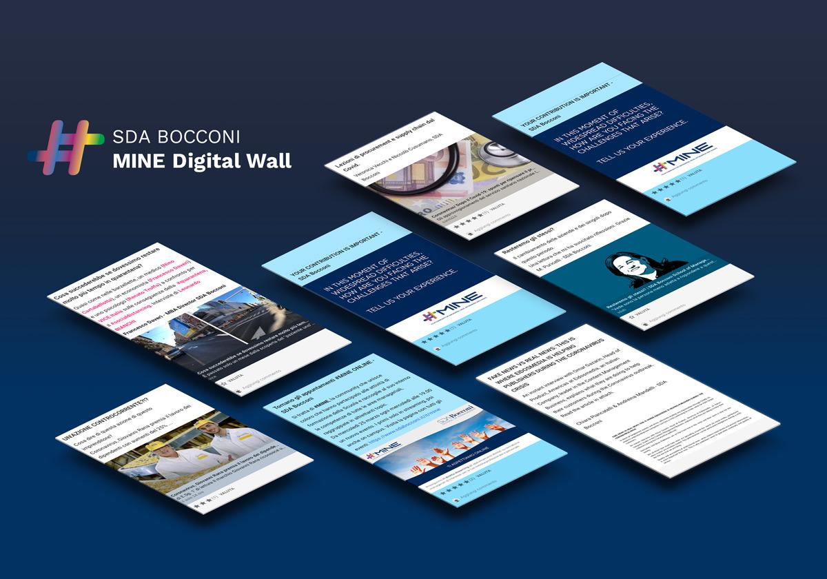 Ideas don't stop: SDA Bocconi creates MINE Digital Wall