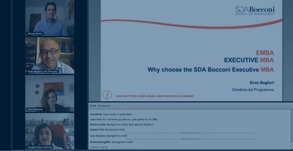 Presentazione web - Virtual Open Day: Executive MBA Presentazione del direttore