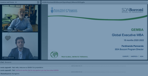 Virtual Open Day: GEMBA, the Director's Presentation