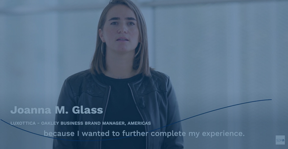 MY MBA in 60 SECONDS, the story of Joanna M. Glass